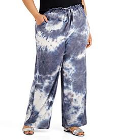 Trendy Plus Size Tie-Dye Palazzo Pants