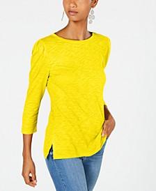 INC Petite Puff Sleeve Top, Created for Macy's