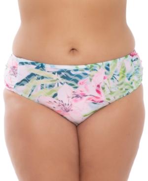 Plus Size Lush Lagoon Bikini Bottoms Women's Swimsuit