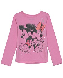 Little Girls Mickey Minnie Love Long Sleeve T-shirt