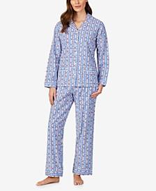 Cotton Flannel Shirt & Pants Pajamas Set