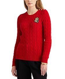 Petite Cable-Knit Crewneck Sweater