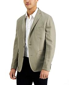Men's Slim-Fit Striped Blazer, Created for Macy's