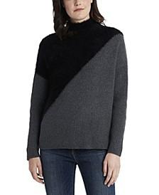 Women's Diagonal Color Block Sweater
