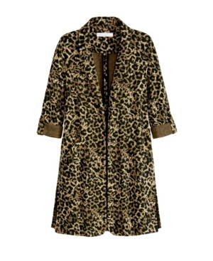Women's 3/4 Sleeve Spotted Duster
