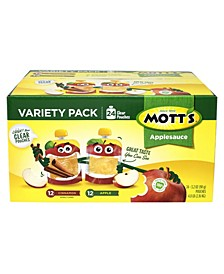 Apple and Cinnamon Applesauce Variety Pack, 4 oz, 24 Count