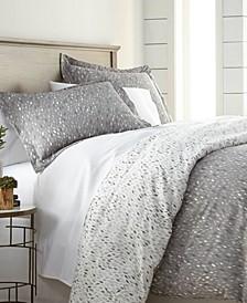 Premium Ultra Soft Botanical Printed 3 Piece Comforter and Sham Set, King/California King