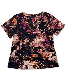 INC Double Layer V-Neck Top, Created for Macy's