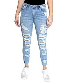 Juniors' Destructed Skinny Jeans