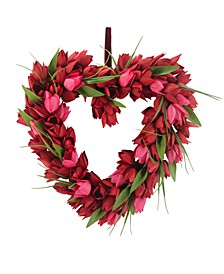 Valentine's Day Red Tulip & Vine Wreath, Created for Macy's