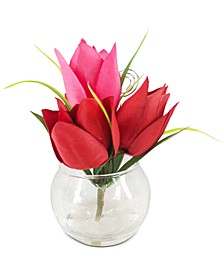 Valentine's Day Artificial Red Tulip Place Card Holder, Created for Macy's