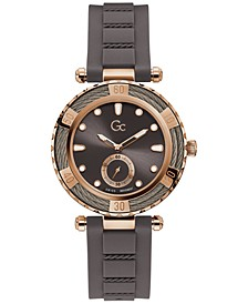Women's Swiss Gray Silicone Strap Watch 38mm