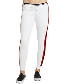 Juniors' Contrast Jogger Pants