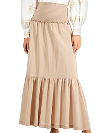 INC Smocked Tiered Maxi Skirt, Created for Macy's