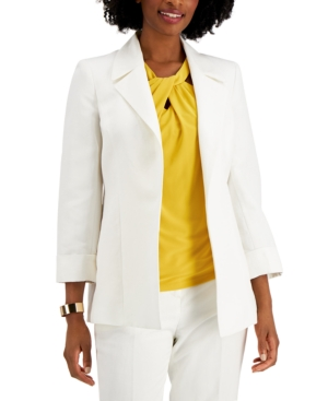 Notch-Collar Open-Front Jacket
