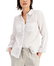INC Linen Roll-Tab Shirt, Created for Macy's