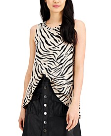 INC Cotton High-Low Tank Top, Created for Macy's