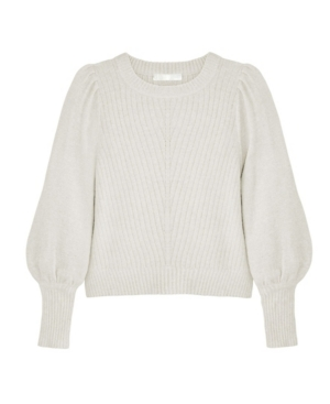 Women's Crew Neck Blouson Sleeve Sweater