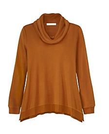 Women's Long Sleeve Cowl Neck Top