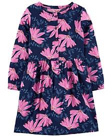 Big Girls Floral Sateen Dress