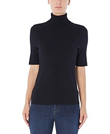 Short Sleeve Turtleneck Sweater