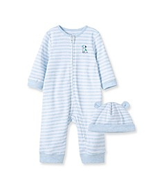 Baby Boys Buddy Coverall with Hat set