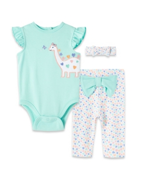Little Me Sets BABY GIRLS DINO BODYSUIT PANT SET