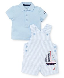 Baby Boys Sailboat Shortall Set