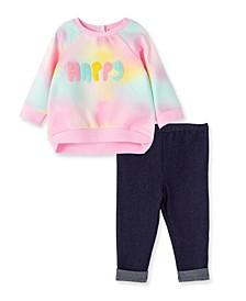 Baby Girls Happy 2 Piece Sweatshirt Set