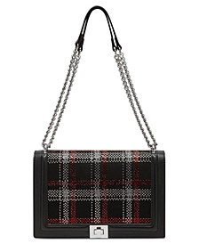INC Ajae Flap Plaid Crossbody, Created for Macy's