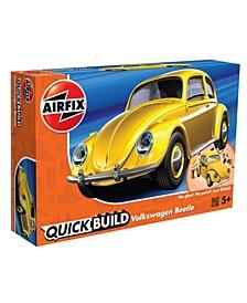 Volkswagen Beetle Yellow Brick Building Plastic Model Kit - J6023