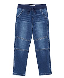 Toddler Boys Tie Waist Slim Striaght Denim Pant