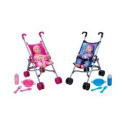 Lissi Dolls Umbrella Stroller Twin Set with 2 Toy Baby Dolls