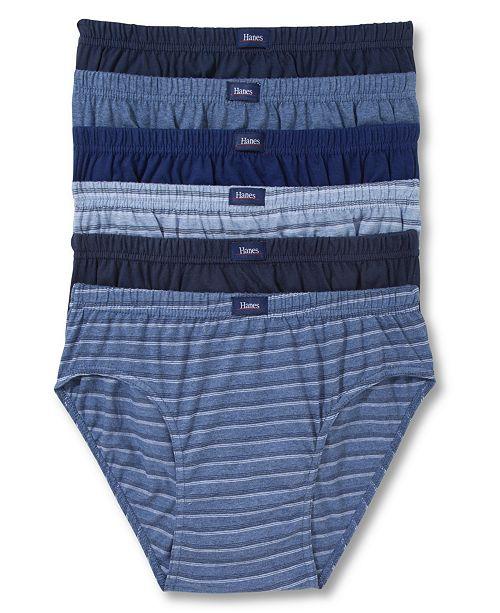 5856bbbe7a8e Hanes Platinum Men's Underwear, Sport Brief 6 Pack & Reviews ...