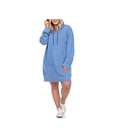Women's Plus Size Hoodie Sweatshirt Dress