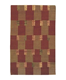 """Modern Double Square 5'6"""" x 8'6"""" Area Rug"""