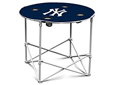 New York Yankees Folding Fabric Round Table