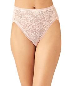 Women's Net Effect Jacquard Lace Hi-Cut Brief Underwear