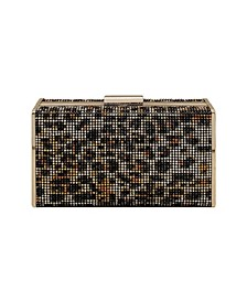 Leopard Crystal Box Clutch
