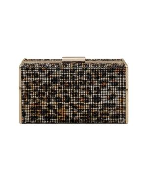 Leopard Crystal Box Clutch