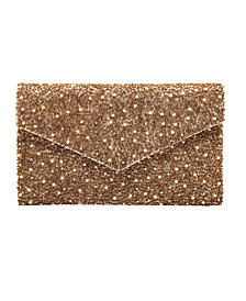 La Regale Fully Beaded Front Envelope Clutch