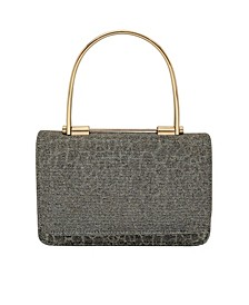 Metallic Animal Print Sparkle Jacquard Mini Handbag