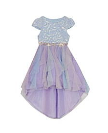 Toddler Girls Sequin and Mesh Hi-Low Dress