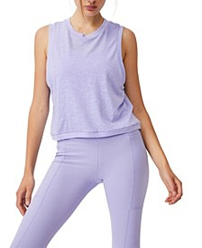 Women's All Things Fabulous Cropped Muscle Tank Top