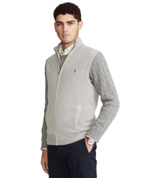 Polo Ralph Lauren Cottons MEN'S FULL-ZIP SWEATER VEST