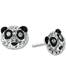 Crystal Panda Stud Earrings in Sterling Silver, Created for Macy's