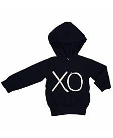 Baby Boys and Girls Certified Organic Cotton Knit Xo Hoodie Sweater