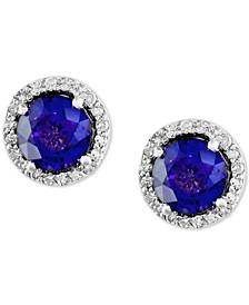 EFFY® Tanzanite (1-1/2 ct. t.w.) & Diamond (1/5 ct. t.w.) Stud Earrings in 14k White Gold