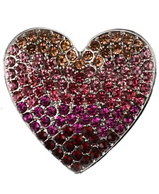 Ombre Stone Heart Pin, Created for Macy's