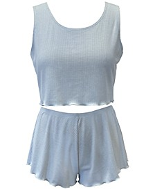 Rib-Knit Sleep Tank Top & Shorts Collection, Created for Macy's